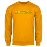 Gold Fleece Crew-Tritons Wordmark
