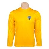 Performance Gold Longsleeve Shirt-UC San Diego Crest