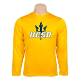Syntrel Performance Gold Longsleeve Shirt-UCSD w/Trident