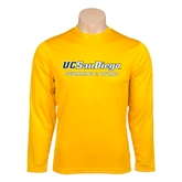 Performance Gold Longsleeve Shirt-Swimming & Diving