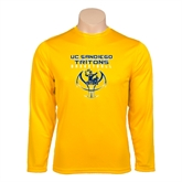 Performance Gold Longsleeve Shirt-Graphics on Ball