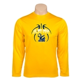 Syntrel Performance Gold Longsleeve Shirt-Graphics in Ball