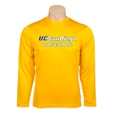 Syntrel Performance Gold Longsleeve Shirt-Baseball