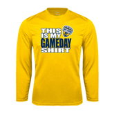 Performance Gold Longsleeve Shirt-UC San Diego Game Day