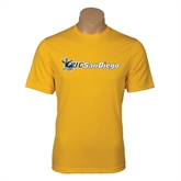 Performance Gold Tee-Official Logo w/UC San Diego
