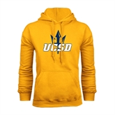 Gold Fleece Hoodie-UCSD w/Trident