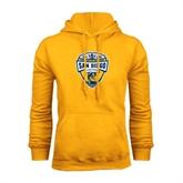 Gold Fleece Hoodie-UC San Diego Crest