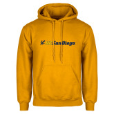 Gold Fleece Hoodie-UC San Diego Primary Mark