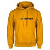 Gold Fleece Hoodie-UC San Diego Wordmark