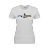 Ladies White T Shirt-Tritons Rising