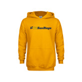 Youth Gold Fleece Hoodie-UC San Diego Primary Mark