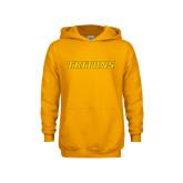 Youth Gold Fleece Hoodie-Tritons Wordmark