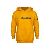 Youth Gold Fleece Hoodie-UC San Diego Wordmark