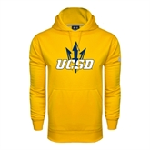 Under Armour Gold Performance Sweats Team Hoodie-UCSD w/Trident