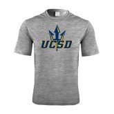 Performance Grey Heather Contender Tee-UCSD w/Trident