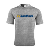 Performance Grey Heather Contender Tee-UC San Diego