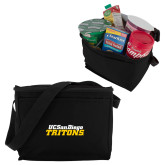 Six Pack Black Cooler-UC San Diego Tritons Mark