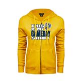 ENZA Ladies Gold Fleece Full Zip Hoodie-UC San Diego Game Day