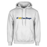 White Fleece Hoodie-UC San Diego Primary Mark
