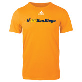 Adidas Gold Logo T Shirt-UC San Diego Primary Mark