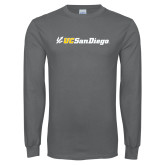 Charcoal Long Sleeve T Shirt-UC San Diego Primary Mark