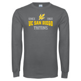 Charcoal Long Sleeve T Shirt-Established Date