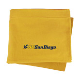 Gold Sweatshirt Blanket-UC San Diego Primary Mark