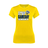 Ladies Syntrel Performance Gold Tee-UC San Diego Game Day