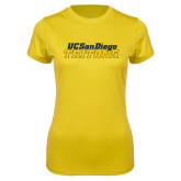 Ladies Syntrel Performance Gold Tee-UC San Diego Tritons Mark