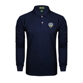 Navy Long Sleeve Polo-UC San Diego Crest