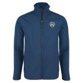 Navy Softshell Jacket-UC San Diego Crest