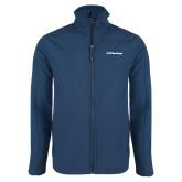 Navy Softshell Jacket-UC San Diego Primary Mark