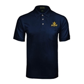 Navy Easycare Pique Polo w/ Pocket-UCSD w/Trident