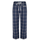 Navy/White Flannel Pajama Pant-UC San Diego Primary Mark