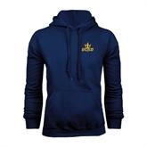 Navy Fleece Hoodie-UCSD w/Trident