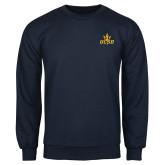 Navy Fleece Crew-UCSD w/Trident