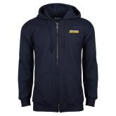 Navy Fleece Full Zip Hoodie-UC San Diego Tritons Mark
