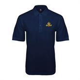 Navy Easycare Pique Polo-UCSD w/Trident