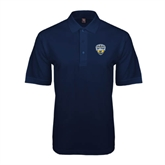Navy Easycare Pique Polo-UC San Diego Crest