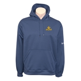 Under Armour Navy Performance Sweats Team Hoodie-UCSD w/Trident