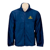 Fleece Full Zip Navy Jacket-UCSD w/Trident