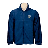 Fleece Full Zip Navy Jacket-UC San Diego Crest