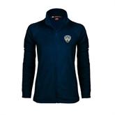 Ladies Fleece Full Zip Navy Jacket-UC San Diego Crest