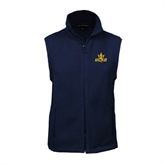 Fleece Full Zip Navy Vest-UCSD w/Trident