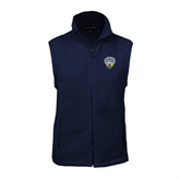 Fleece Full Zip Navy Vest-UC San Diego Crest