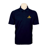 Navy Textured Saddle Shoulder Polo-UCSD w/Trident
