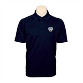 Navy Textured Saddle Shoulder Polo-UC San Diego Crest