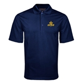 Navy Mini Stripe Polo-UCSD w/Trident