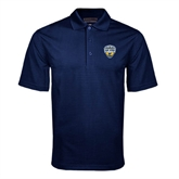 Navy Mini Stripe Polo-UC San Diego Crest