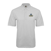 White Easycare Pique Polo-UCSD w/Trident